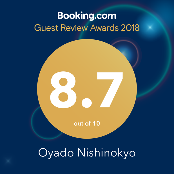Bookin.com Guest Review Awards 2018 Oyado Nishinokyo 8.7